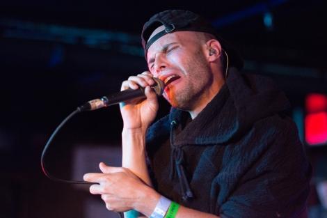 Autre Ne Veut (ARTHUR ASHIN) performs at Middle East Downstairs in Cambridge, Massachusetts on Thursday, Oct. 22, 2015.